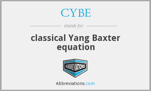 What does CYBE stand for?
