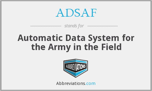 What does ADSAF stand for?