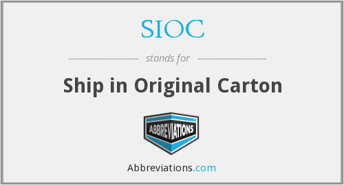 What does SIOC stand for?