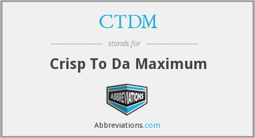What does CTDM stand for?