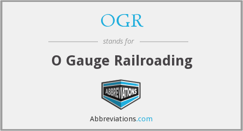 What does OGR stand for?