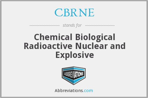 What does CBRNE stand for?