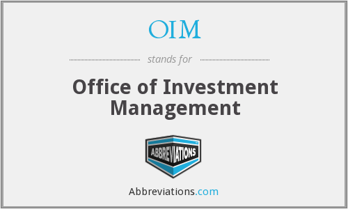 What does OIM stand for?