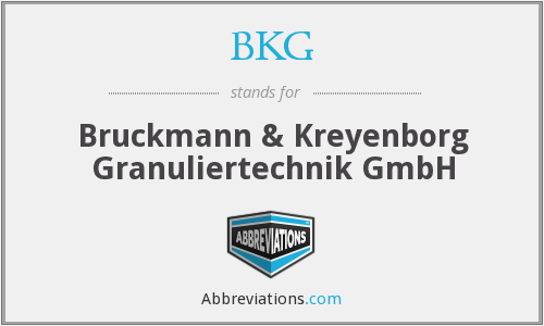 What does BKG stand for?