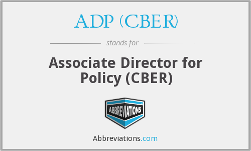 What does ADP (CBER) stand for?