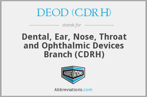 What does DEOD (CDRH) stand for?