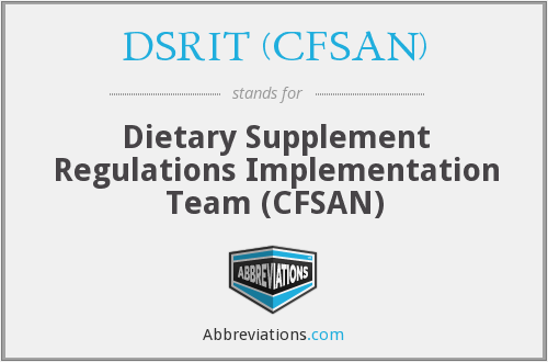 What does DSRIT (CFSAN) stand for?