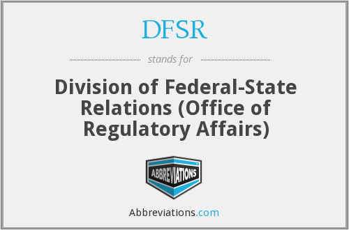 What does DFSR stand for?