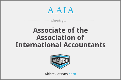 What does AAIA stand for?