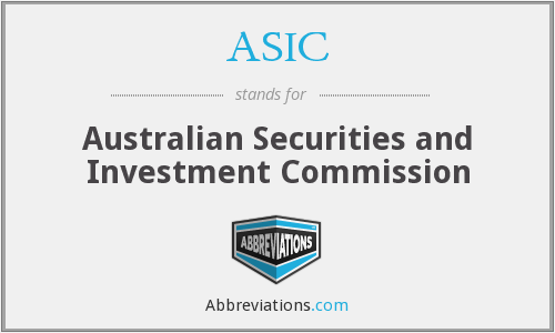 What does ASIC stand for?