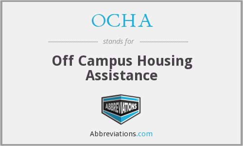 What does OCHA stand for?
