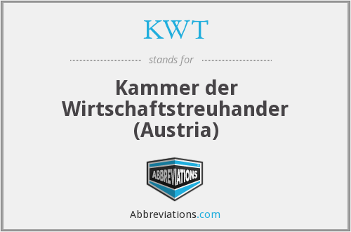 What does KWT stand for?