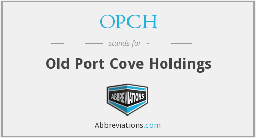 What does OPCH stand for?