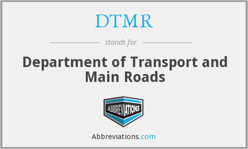 What does DTMR stand for?