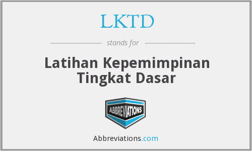 What does LKTD stand for?