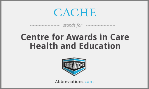 What does CACHE stand for?