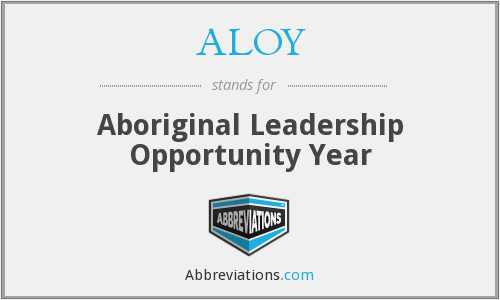 What does ALOY stand for?