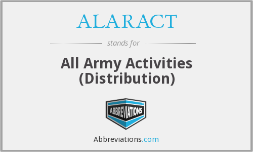 What does ALARACT stand for?