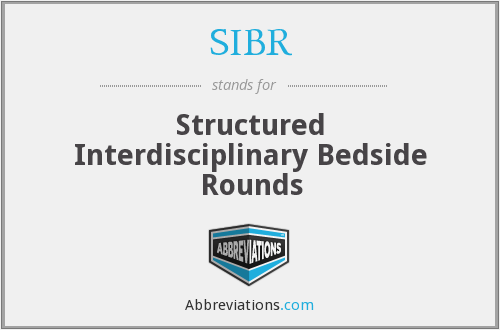 What does SIBR stand for?