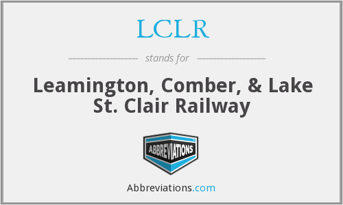 What does LCLR stand for?