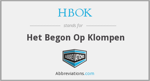 What does HBOK stand for?