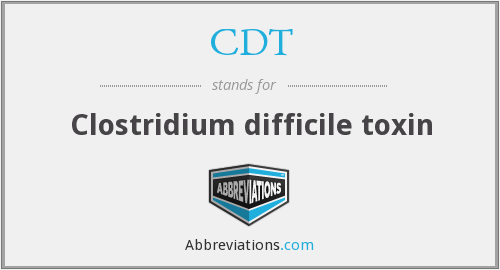 What does c. difficile stand for?