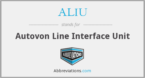 What does ALIU stand for?