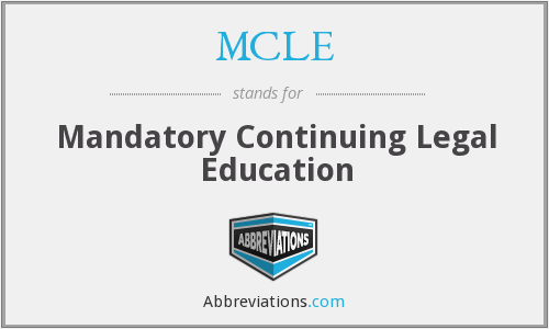 What does MCLE stand for?