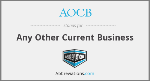 What does AOCB stand for?