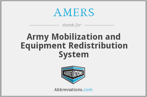 What does AMERS stand for?