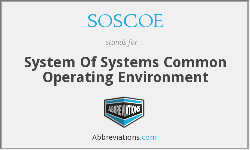 What does SOSCOE stand for?