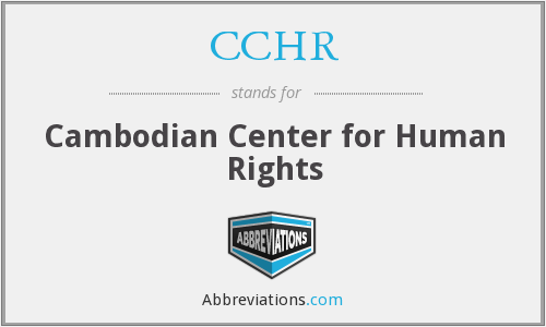 What does CCHR stand for?