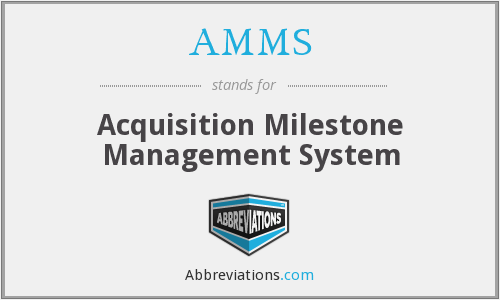 What does AMMS stand for?