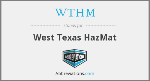 What does WTHM stand for?