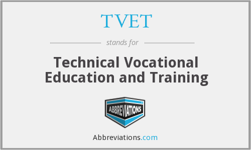 What does TVET stand for?