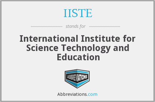 What does IISTE stand for?