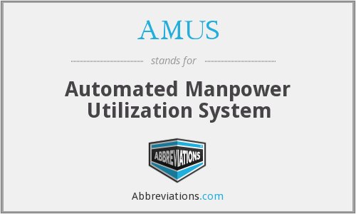 What does AMUS stand for?
