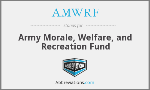 What does AMWRF stand for?