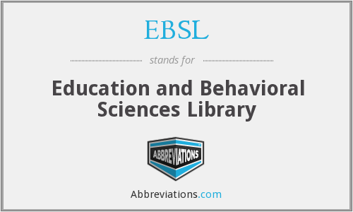 What does EBSL stand for?