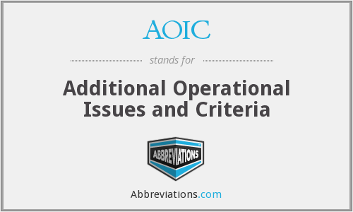 What does AOIC stand for?
