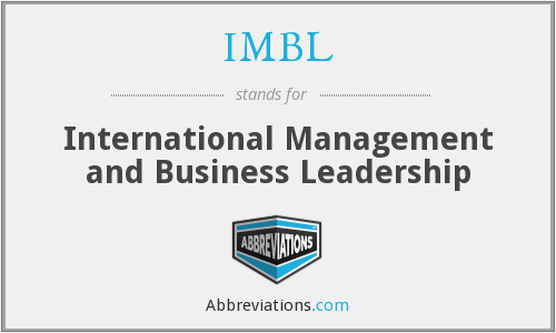 What does IMBL stand for?