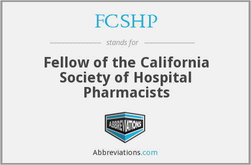 What does FCSHP stand for?