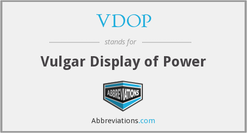 What does VDOP stand for?