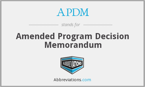 What does APDM stand for?