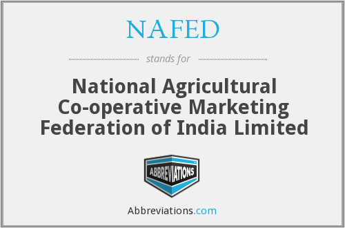 What does NAFED stand for?