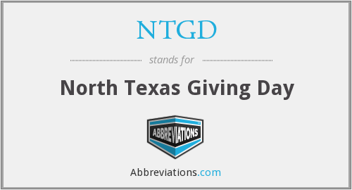 What does NTGD stand for?