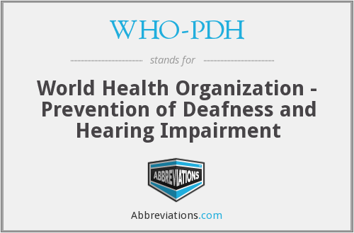What does WHO-PDH stand for?