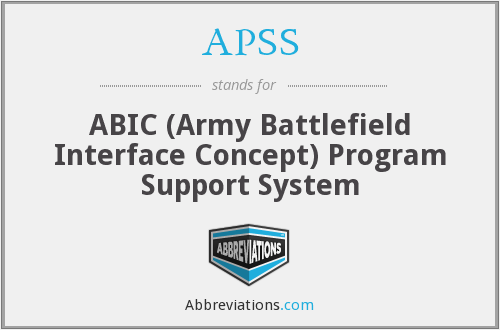 What does APSS stand for?
