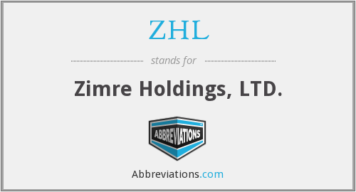 What does ZHL stand for?