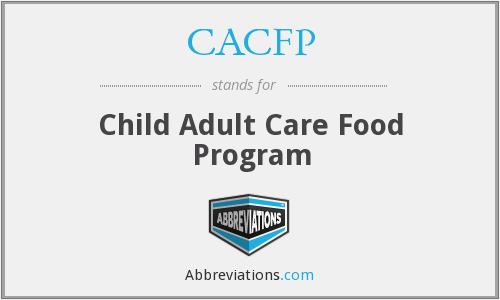 What does CACFP stand for?